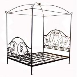 lit en fer forg lit baldaquin meubleethnic. Black Bedroom Furniture Sets. Home Design Ideas