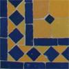 Bleu sur fond jaune