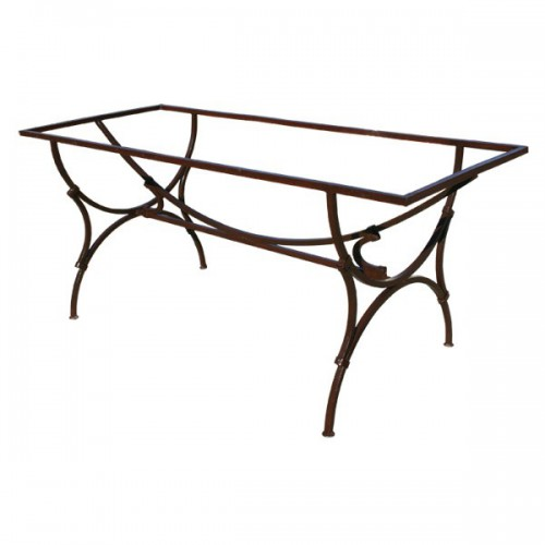 Pied table SAS fer mixte 120/60