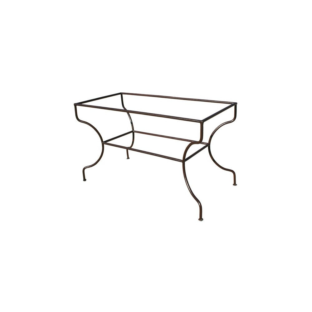 pied table fer forg pied rectangulaire support simple ferronnerie art. Black Bedroom Furniture Sets. Home Design Ideas