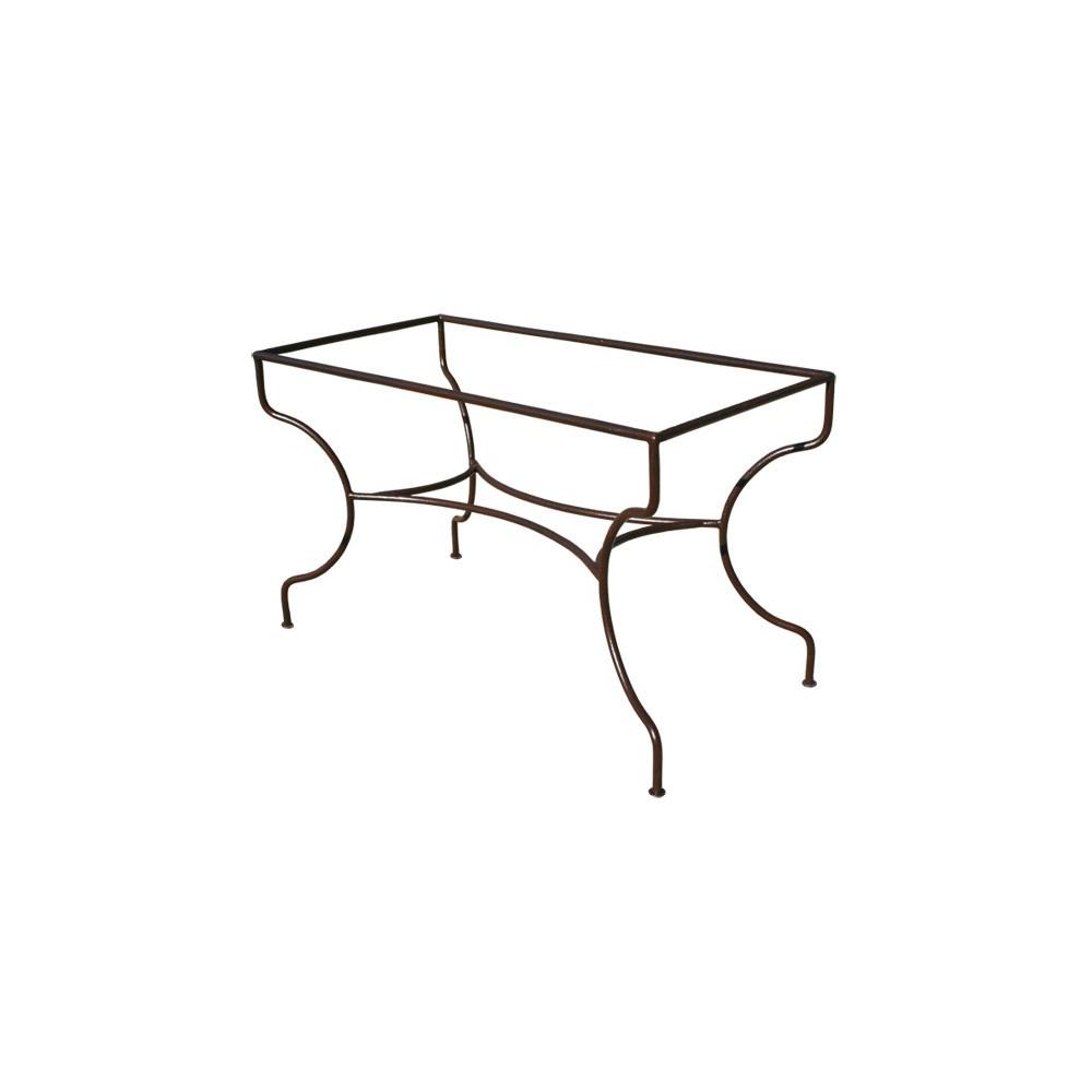 Table Forgé Ferronnerie Simple Fer Art Pied Support Rectangulaire SMzqUVp