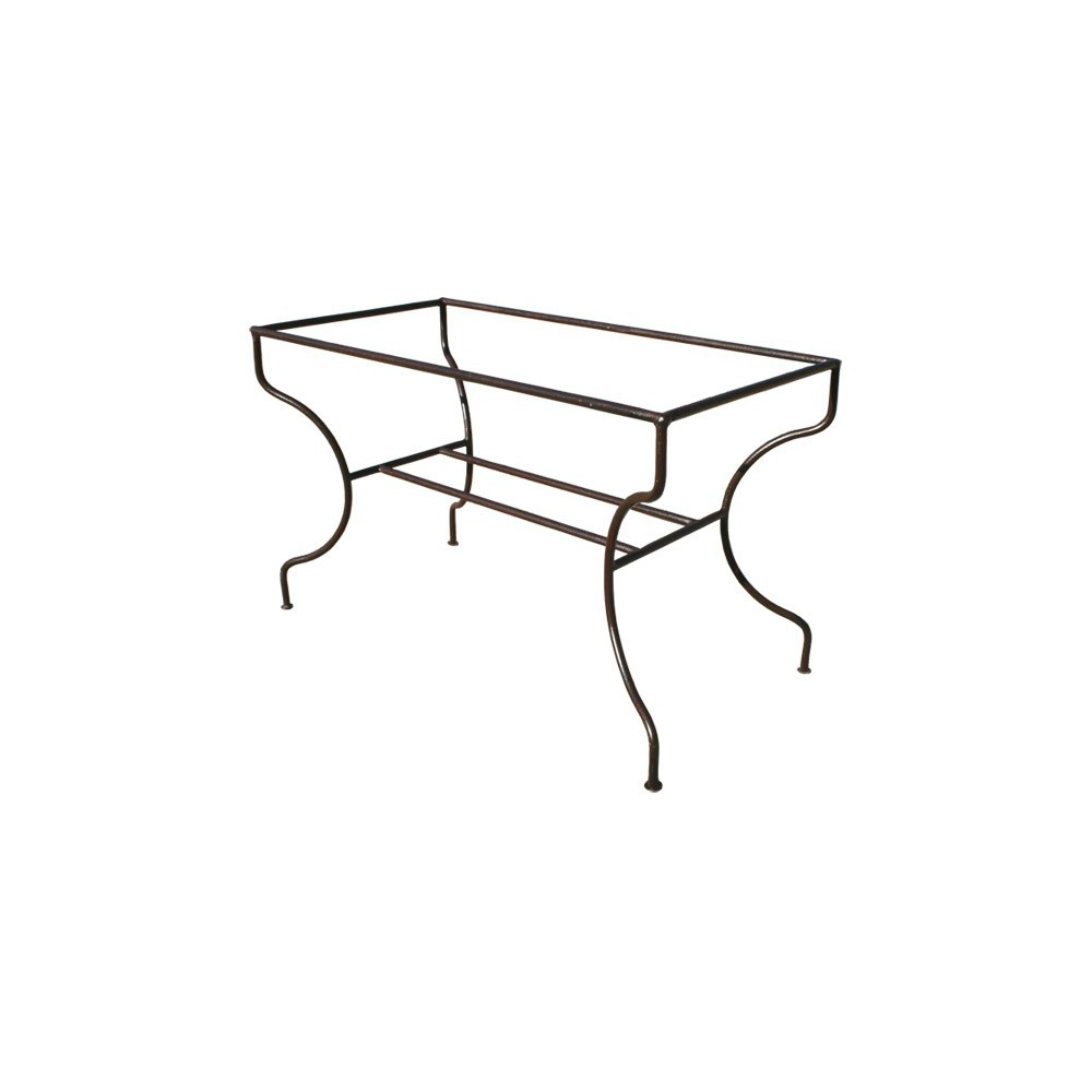 pied table fer forg pied rectangulaire support simple. Black Bedroom Furniture Sets. Home Design Ideas