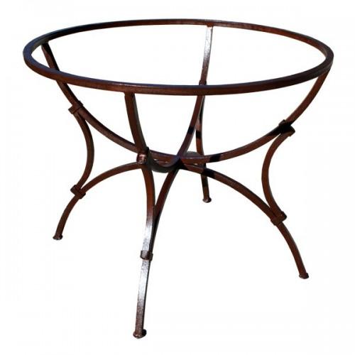 Pied table rond SAS fer forgé carré mixte