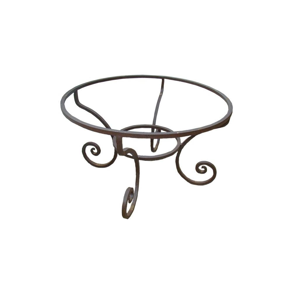 pied de table rond fou du roi en fer forg carr. Black Bedroom Furniture Sets. Home Design Ideas