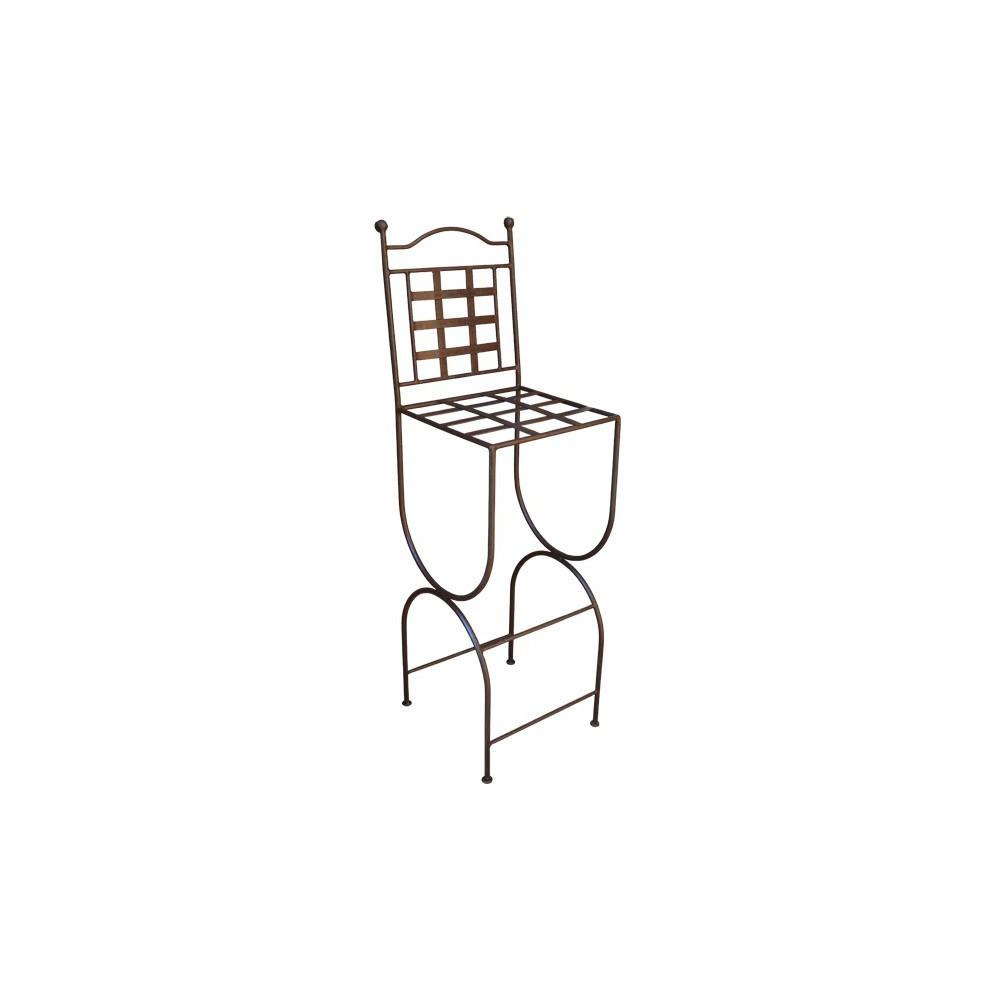 tabouret de bar provence en fer forg. Black Bedroom Furniture Sets. Home Design Ideas