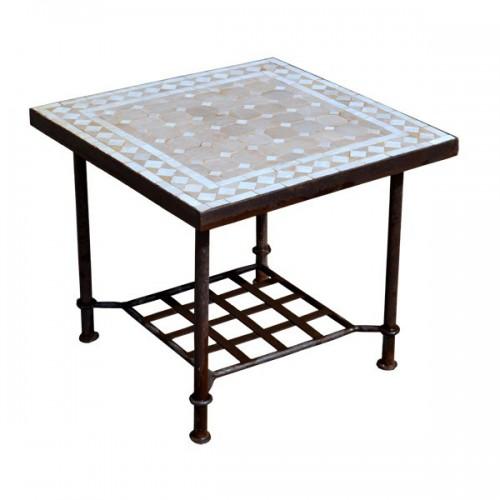 Table basse en zellige carrée 50/50, bout de canapé