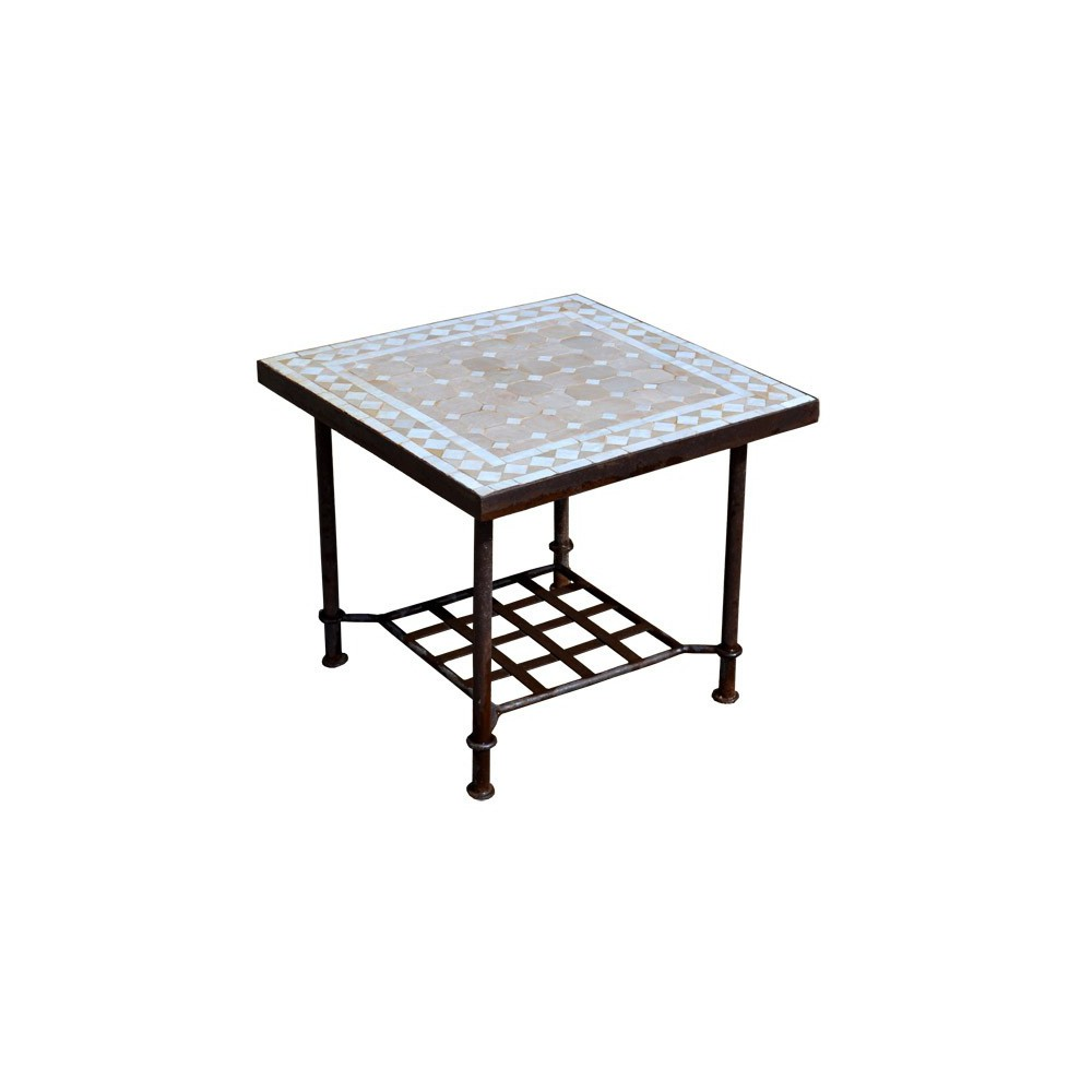 Table basse en zellige, bout canapé, mosaïque de céramique ...