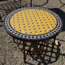 Table basse marocaine en zellige ronde d.: 60
