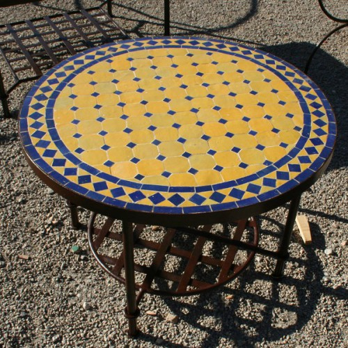 Table basse en zellige ronde d.: 70