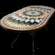 Table marbre ovale 200/100 Florentine 6