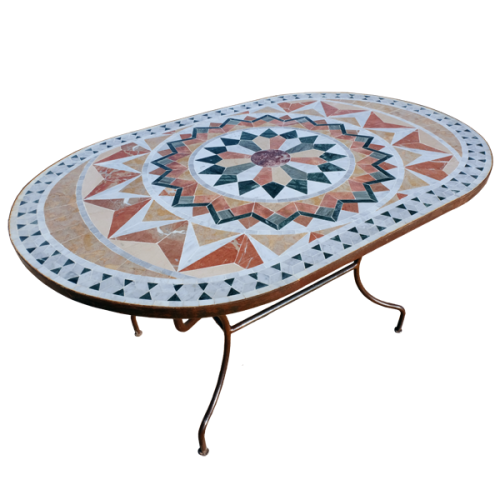 Table marbre ovale 180/90 Florentine 9