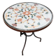 Table marbre ovale 180/90 Fleur 7