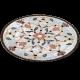 Table marbre ovale 140/90 Fleur 7