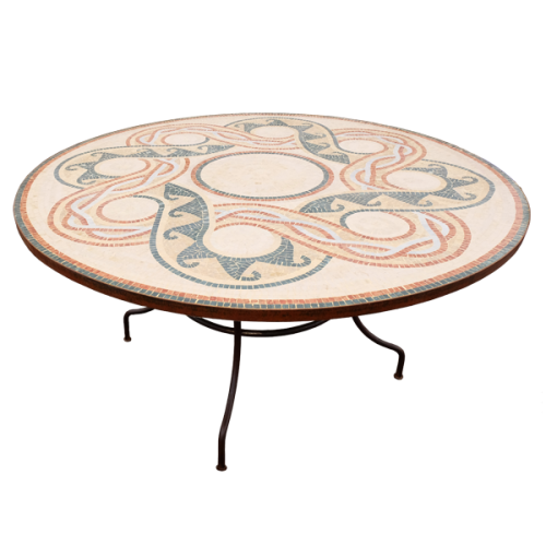 Table marbre ronde d.:150 Géométrix 3