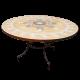 Table marbre ronde d.:110 Etoile couleur