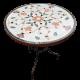 Table marbre ronde d.: 70 Fleur 7