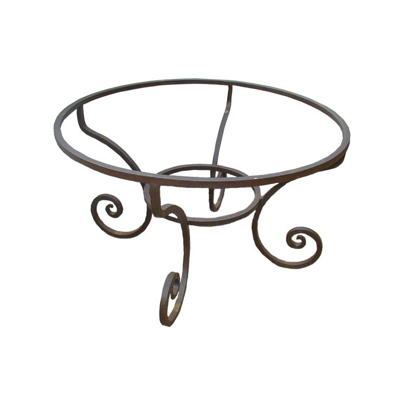 Table Fer Forge Ronde.Pied Table Fer Forge Rond Bas Fou Du Roi Fer Carre Forge Plein