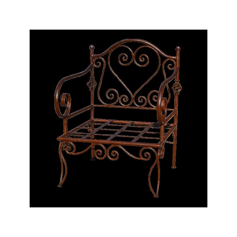fauteuil coeur en fer forg. Black Bedroom Furniture Sets. Home Design Ideas