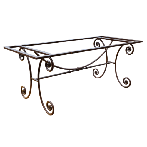 Pied table Camargue fer forgé