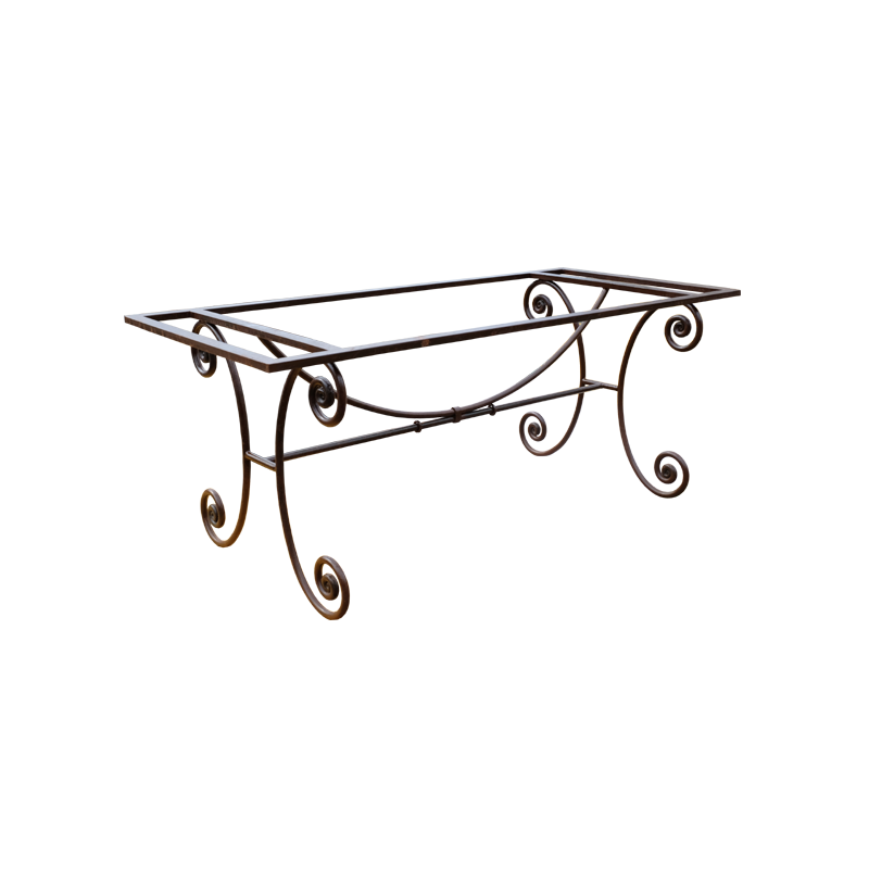 Pied De Table En Fer Forge Camargue Pietement En Ferronnerie D Art