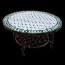 Table basse marocaine en zellige ronde d.: 70