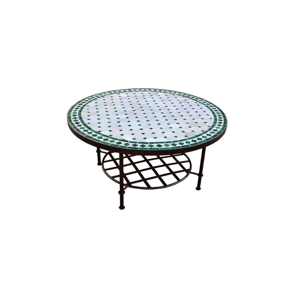 table basse marocaine zellige mosaique fer forge salon. Black Bedroom Furniture Sets. Home Design Ideas