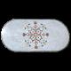 Table marbre ovale 200/100 Fleur7