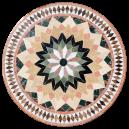 Table marbre ronde d.:130 sur pied fer forgé