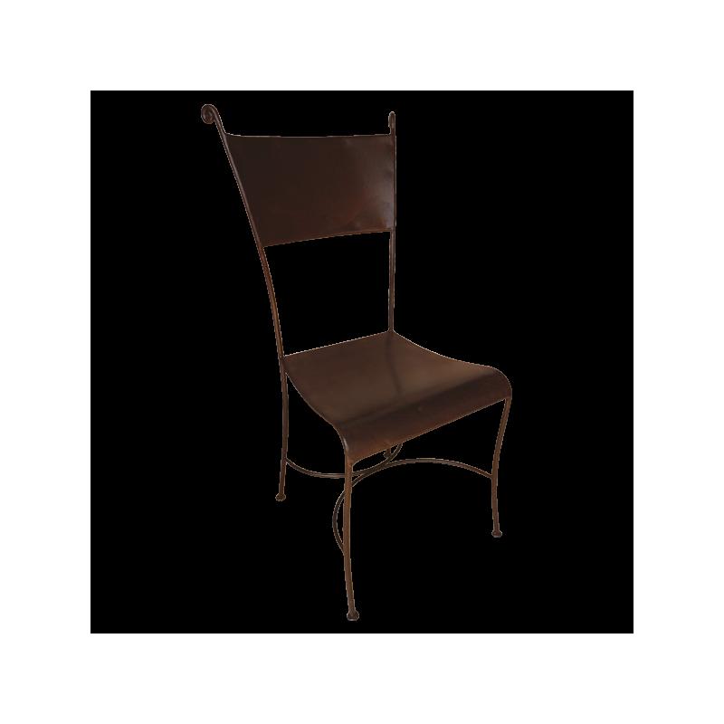 Chaise Escargot assise et dossier tôlés
