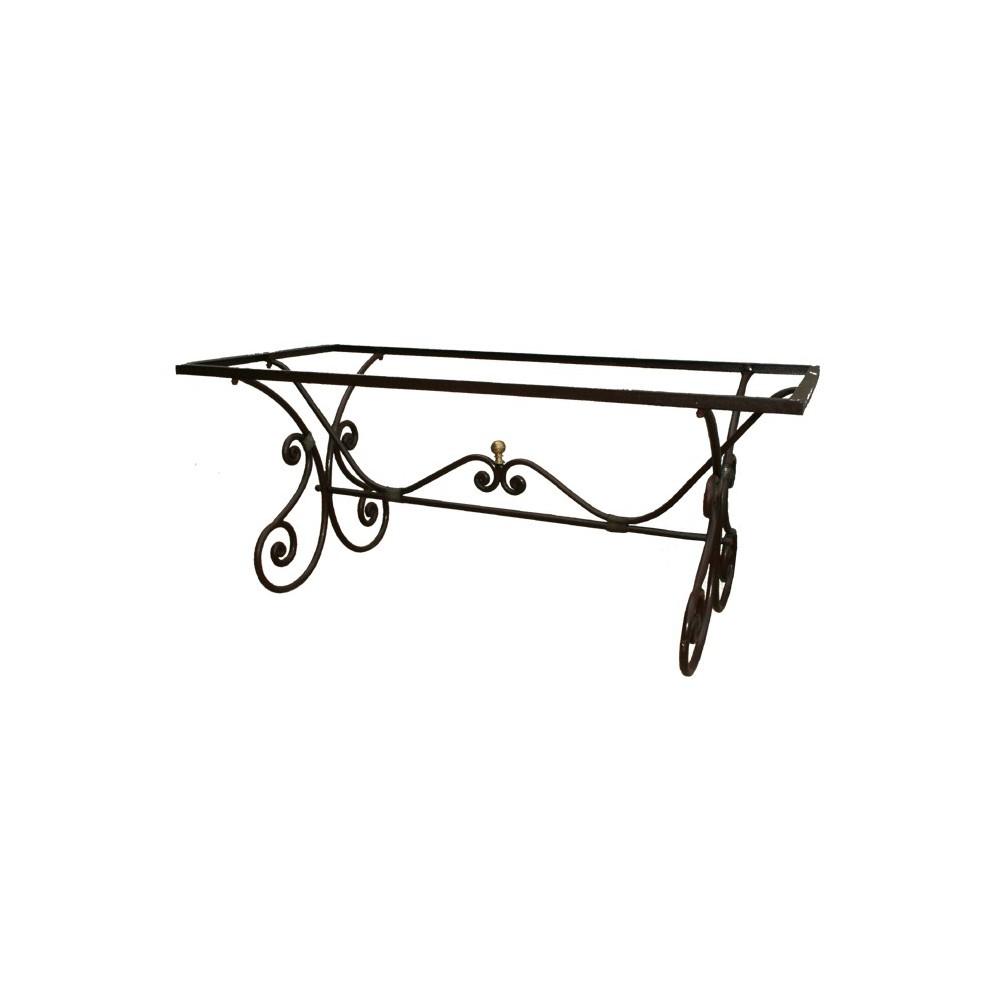 pied de table en fer forg isis. Black Bedroom Furniture Sets. Home Design Ideas