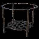 Piétement table fer forgé basse rond étagère