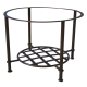Piétement table basse rond étagère fer forgé