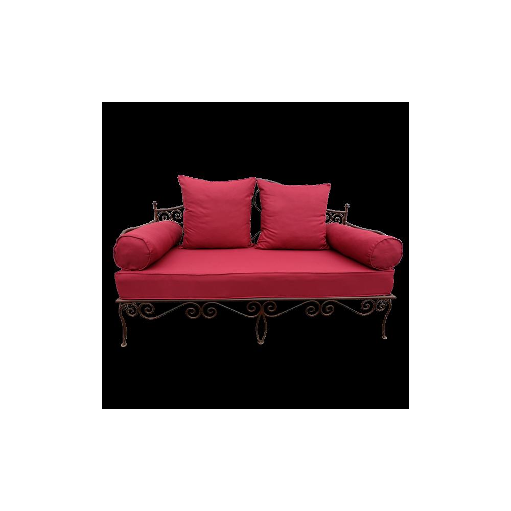 canap banquette salon fer forge jardin salon v randa terrasse. Black Bedroom Furniture Sets. Home Design Ideas