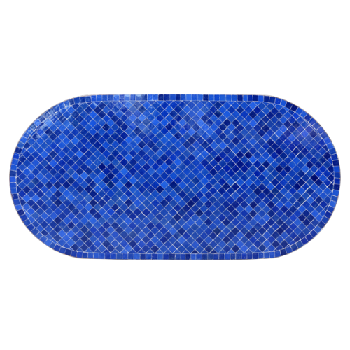 Table en zellige ovale 180/90 bleu bleu