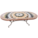 Table mosaique marbre ovale 180/90 Florentine 6