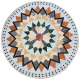 Table mosaique marbre ronde d.:110 Florentine 9