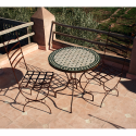 Table en zellige ronde 70 + 2 Chaises Marina