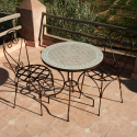 "Table en zellige ronde 70 + 2 Chaises ""Italienne"""