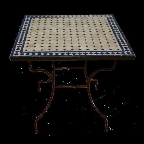 Table mosaique zellige carrée 80/80