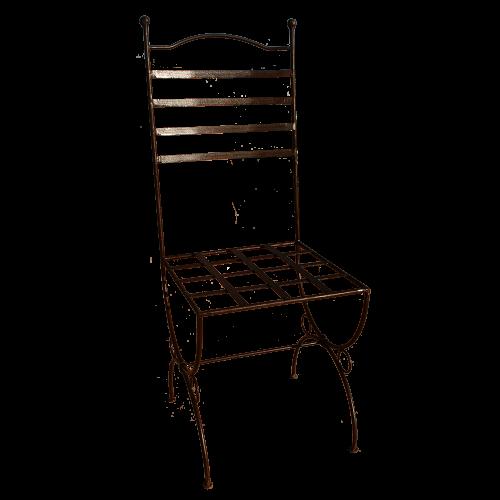 "Chaise fer forgé ""Marina"" fer rond 14"