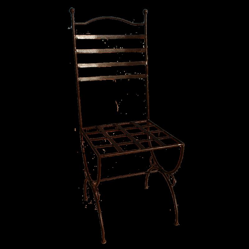 Chaise fer forgé Marina fer plein 14