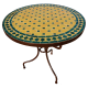 Table en mosaique zellige ronde d.: 70