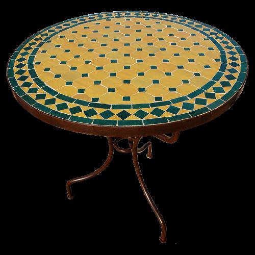 Table en mosaique zellige ronde d.: 70