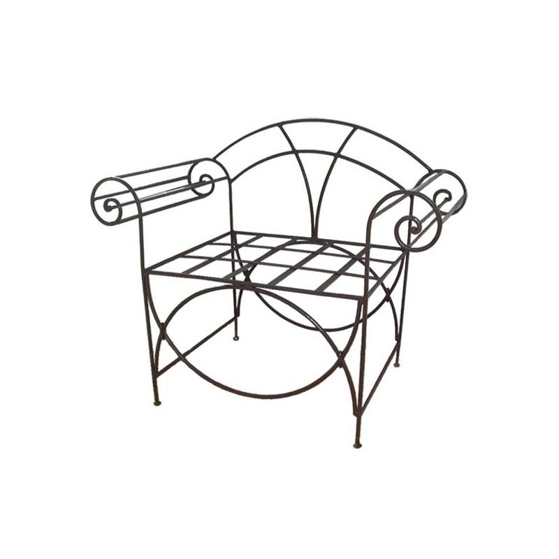 fauteuil romain en fer forg. Black Bedroom Furniture Sets. Home Design Ideas