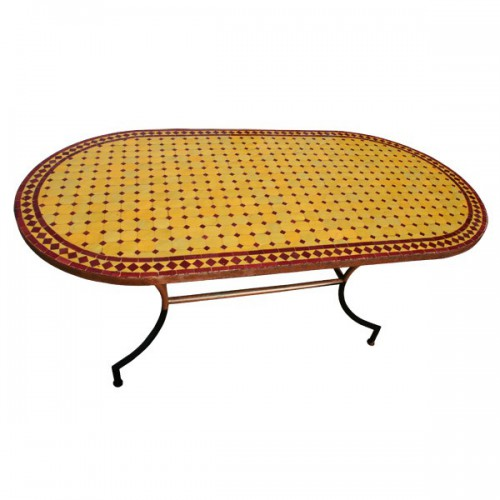 Table en zellige ovale 180/90