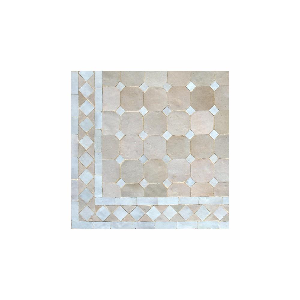 Table jardin marocain zellige pas cher mosaique ceramique fer forge ...