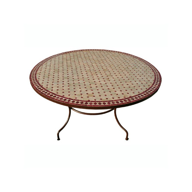 Table en zellige ronde d.: 150
