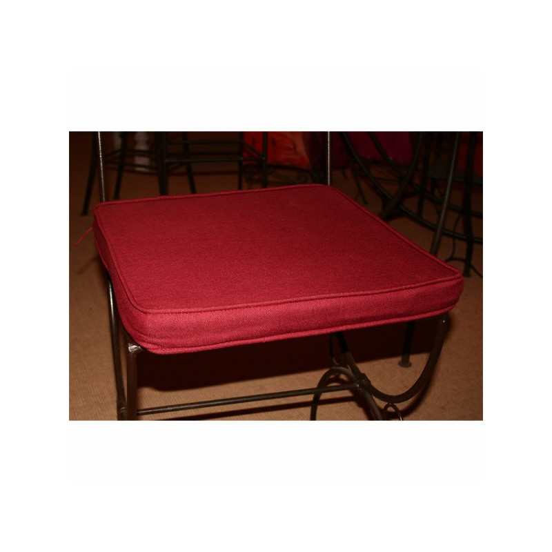 Coussin, galette assise Chaise carrée 40x40