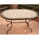 Table en zellige ovale 140/90