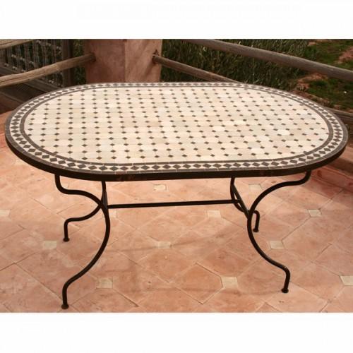 Table en zellige ovale 140/90